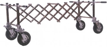 CEMETERY CHURCH TRUCK WITH HANDLES, GOLD