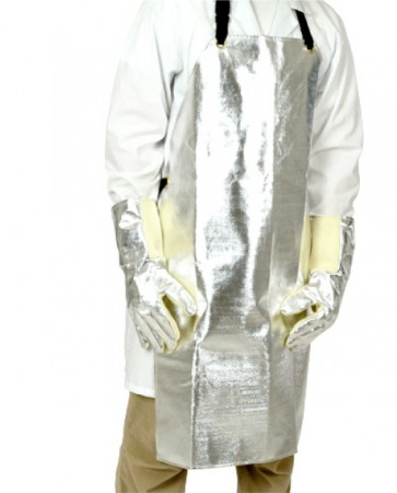 APRON,ALUMINIZED,REFLECTS RADIANT HEAT