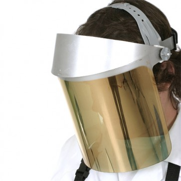 GOLD FACE SHIELD w/ MSA HARD HAT