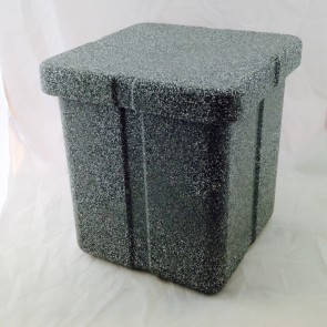 URN VAULT, POLYETHYLENE, BLACK GRANITE
