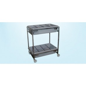 FLOWER CART,2 LEVELS w/2 REMOV.TRAYS