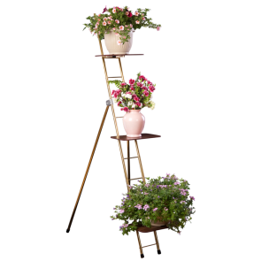 "FLOWER LADDER RACK, 63"" w/3 SHELVES"
