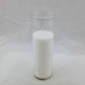 CANDLE, 5 DAY,CLEAR PLASTIC, CASE/24
