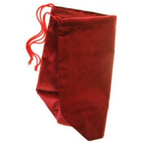 "JEWELLERY BAG,BURGUNDY SUEDE,5.5""x5.25"