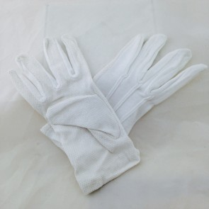 GLOVES,WHITE PALLBEARERS w/GRIP-TEX PAIR