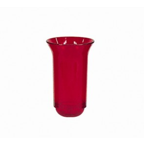 """RUBY CYLINDER,4-7/8""""T,7-1/4""""H,3-5/16"""""""
