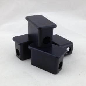 BLK. PLASTIC CAP,RECTNGL f/CH.TRUCK(SET4