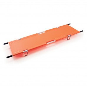 "FOLDING POLE STRETCHER, 81""x21.5"",ORG"