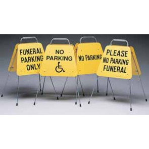 TRAFFIC GUIDE, FUNERAL PARKING ONLY