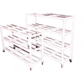 4 BODY STORAGE RACK w/CASTORS