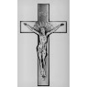 "16"" EXT. CRUCIFIX CURVED ANTIQUE SILVER"