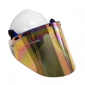 GOLD FACE SHIELD w/ MSA HARD HAT